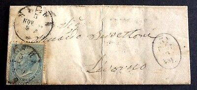 wonderful old canceled cover Italy with stamp