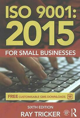 ISO 9001:2015 for Small Businesses by Ray Tricker (English) Paperback Book Free