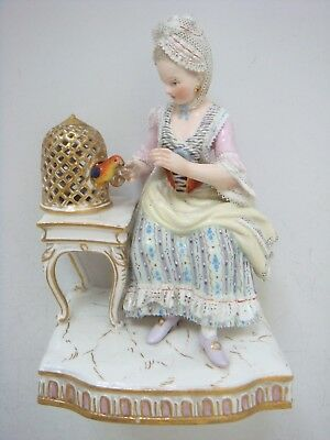 Meissen Porcelain Superb Figure From The Five Senses Representing Touch