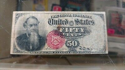 50 CENT STANTON FRACTIONAL NOTE 1869 -1875 CURRENCY OLD PAPER MONEY Fr 1376 Note