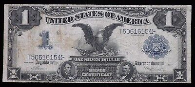 1899 Black Eagle $1 Dollar Silver Certificate Paper Note  Circulated