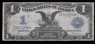 1899 Black Eagle $1 Dollar Silver Certificate Paper Note  Heavily Circulated