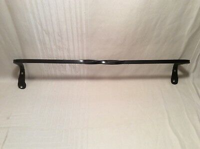 "24"" Wrought Iron Towel Bar Hand Made by Blacksmith  , Black wrought iron"