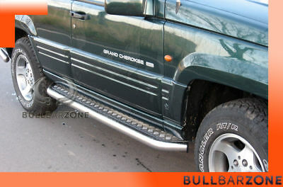 Jeep Grand Cherokee Zj 1991-1999 Marche-Pieds Inox Plat / Protections Laterales
