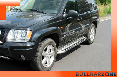 Jeep Grand Cherokee Wj 1999-2004 Marche-Pieds Inox Plat / Protections Laterales