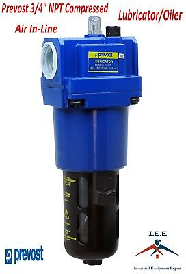 """Prevost 3/4"""" Compressed Air In-Line Oiler / Lubricator Inline Oil Lubrication"""