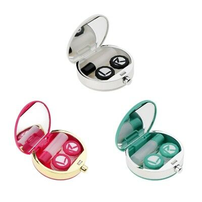 Contact Lens Portable Mini Travel Holder Storage Soaking Box Case Mirror Set