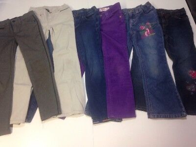 Lot of 6 Girls Name Brand Jeans Size 6 SONOMA BARBIE OSHKOSH CRAZY 8 FADED GLORY