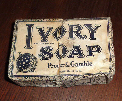 Vintage Early 20th Century Ivory Soap Bar Large Size Cut in Middle