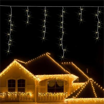 Blumfeldt String Icicle Christmas Lights 16M 320 Led Warm White Snow Motion