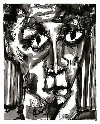 ENOUGH original abstract/folk/outsider? ink painting/drawing J.Swinton Canadian