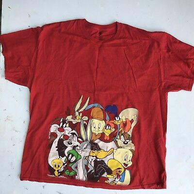 90s Vintage Looney Tunes T Shirt Red XXL