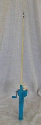 Vintage Disney Mickey Mouse Zebco Fishing Pole Reel Rod USA 1982