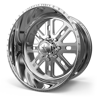 AMERICAN FORCE SS6 SS8 MIRROR POLISH 18x9 -12mm CHEAPEST FORCES ON EBAY