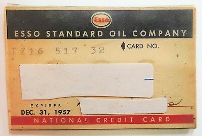 Esso Standard  1957 Complete Card And Plastic Sleeve