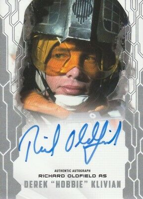 2017 Topps STAR WARS MASTERWORK Autograph Card Richard Oldfield as Derek Klivian