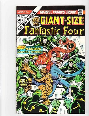 FANTASTIC FOUR GIANT-SIZE #4 Feb 1975 - MADROX Condition 8.5 VF-  NEW Material