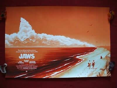 Jaws Mondo Phantom City Original Movie Poster Art Print Variant 1975 Halloween