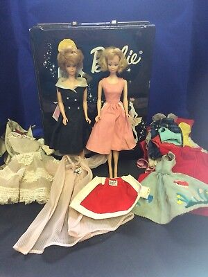 Vintage Barbie Midge Lot With Case And Clothes 1960's