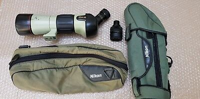 Nikon Fieldscope Field Scope 60 ED  with 20-60 zoom eye peice and 30 eye peice!
