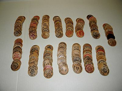 Large Lot Over 150 Mixed Vintage   Wooden Nickels