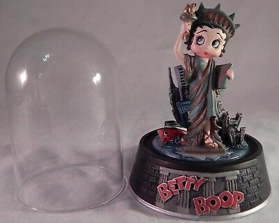 Vintage Betty Boop Globe Liberty Betty Painted Sculpture W/ Dome