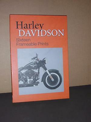 "15 Harley Davidson 15"" x 10"" Frameable Prints By Metro Books In The Original Box"