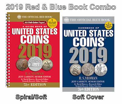 2019 Red Book, Spiral Price Guide and 2019 Blue Book, Handbook of U.S. Coins