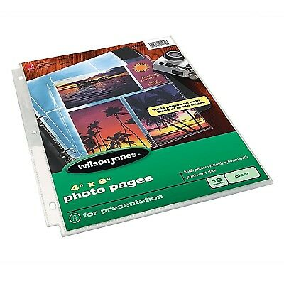 """WILSON JONES 4"""" x 6"""" Photo Pages, Mixed Format, 10 Pages (21462)"""
