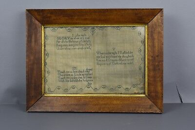 Beautiful Antique Early Sampler Dated 1802