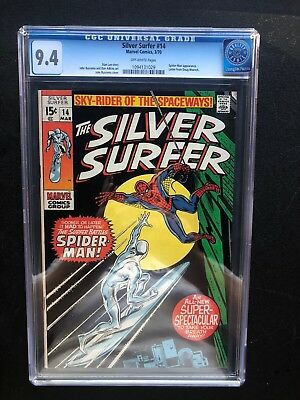 Silver Surfer 14 !! Cgc 9.4 !! Off-White Pages !! Awesome !! Classic !!!