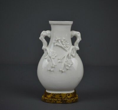 Fine Chinese Taste 'Blanc De Chine' Vase With Silk Base