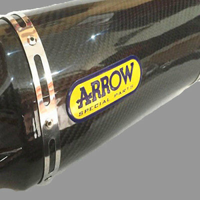 3D ARROW Motocycle Sticker Exhaust Pipe Heat Resistant Aluminum Badge