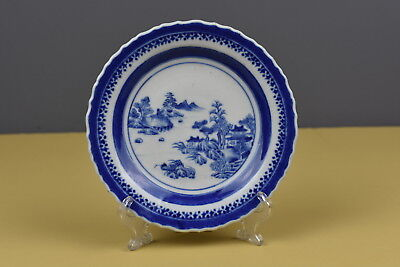Chinese Export Blue And White Plate Circa 1785