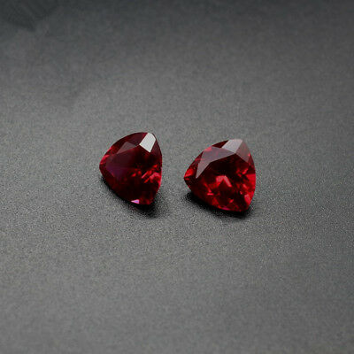 6x6mm 1.02ct Pigeon Blood Red Ruby Trillion Faceted Cut AAAAA VVS Loose Gemstone