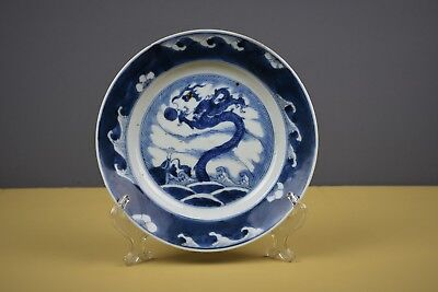 Chinese Dragon Kangxi Period (1661-1722) Blue And White Plate