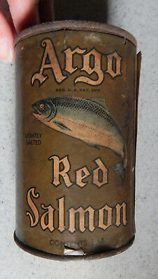 Argo Red Salmon One Pound Can Alaska Packers Association