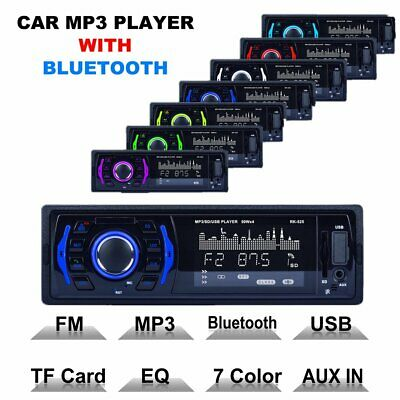 Car Stereo Audio Bluetooth In-Dash FM Aux Input SD/USB/MP3 Radio Player LCD New