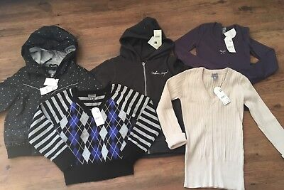 5 x Pumpkin Patch Girls Size 8 items includes Jackets, Jumpers & Shirt RRP$190