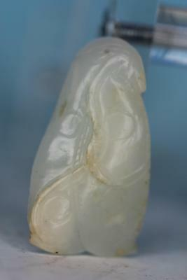 Old Chinese Carved Antique White Jade Pendant