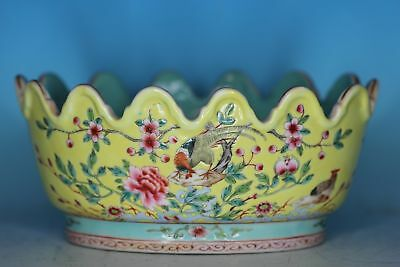 Beautiful Chinese Famille Rose Porcelain Antique Planter