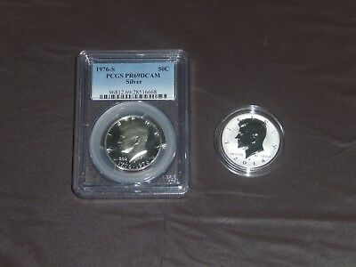 2014 w silver reverse kennedy 50th anniversary and kennedy 1976 s pcgs pr69dcam