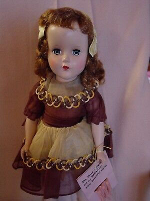 Arranbee R&b Vintage Hard Plastic Doll With Original, Hang Tag With Curlers!