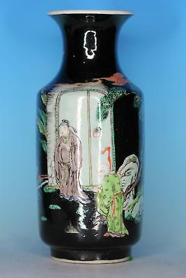 Great Chinese Famille Noire Porcelain Antique Vase