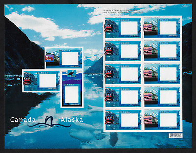 Canada Stamps - Pane of 10+3 - Canada-Alaska Cruise Picture Postage #1991C-D MNH