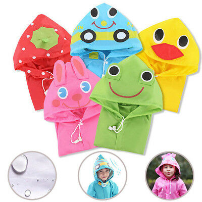 Unisex Cute Kids Child Waterproof Raincoat Rainwear Cartoon Raincoats