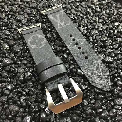 Louis Vuitton Monogram Eclipse Upcycled Apple Watch Band 38mm 42mm