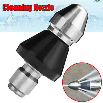 1 Front 6 Rear 3/8'' Pressure Washer Drain Cleaning Jetter Pipe Dredge Nozzle