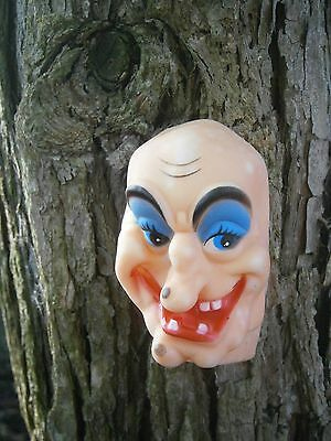 WICKED WITCH FACE Doll Making Craft Gothic Halloween Witchcraft VINTAGE Kitsch