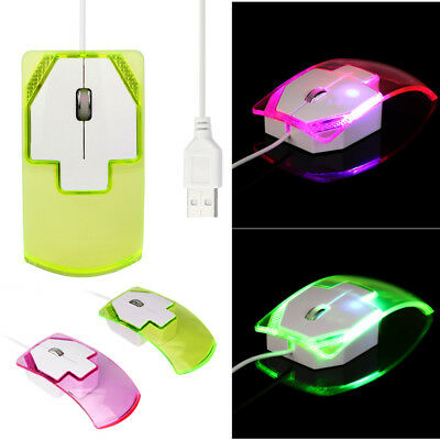 Fasion Colorful LED 1600 DPI Optical USB  Wired Game Mouse Mice For PC Laptop